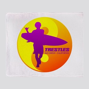 Trestles (Surfing) Throw Blanket