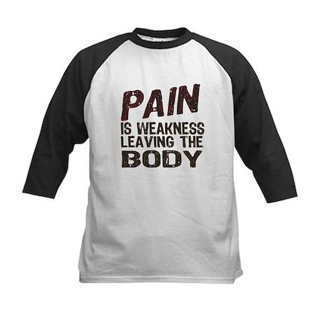 Pain is Weakness Kids Baseball Jersey