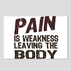 Pain is Weakness Postcards (Package of 8)