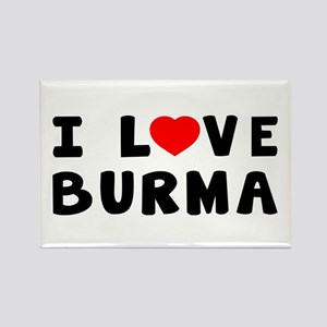 I Love Burma Rectangle Magnet