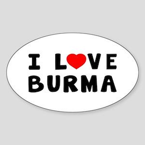 I Love Burma Sticker (Oval)