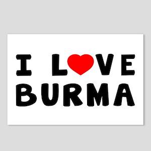 I Love Burma Postcards (Package of 8)