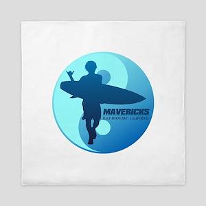 Mavericks-Half Moon Bay (blue) Queen Duvet