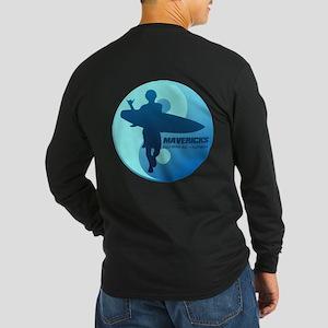 Mavericks-Half Moon Bay (blue) Long Sleeve T-Shirt