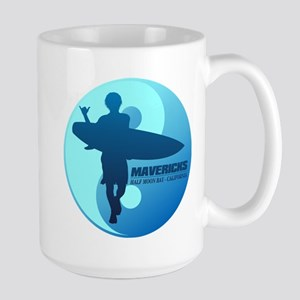 Mavericks-Half Moon Bay (blue) Mugs