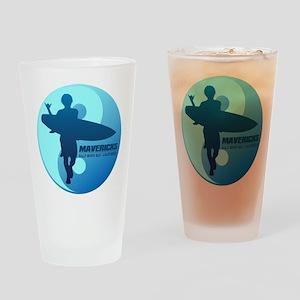 Mavericks-Half Moon Bay (blue) Drinking Glass