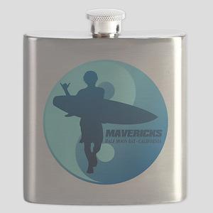 Mavericks-Half Moon Bay (blue) Flask