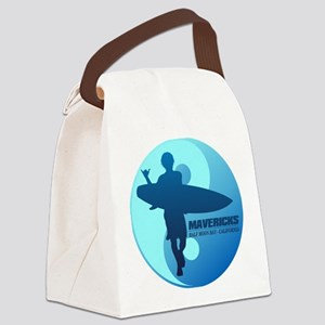 Mavericks-Half Moon Bay (blue) Canvas Lunch Bag