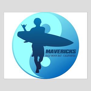 Mavericks-Half Moon Bay (blue) Posters