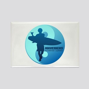Mavericks-Half Moon Bay (blue) Magnets