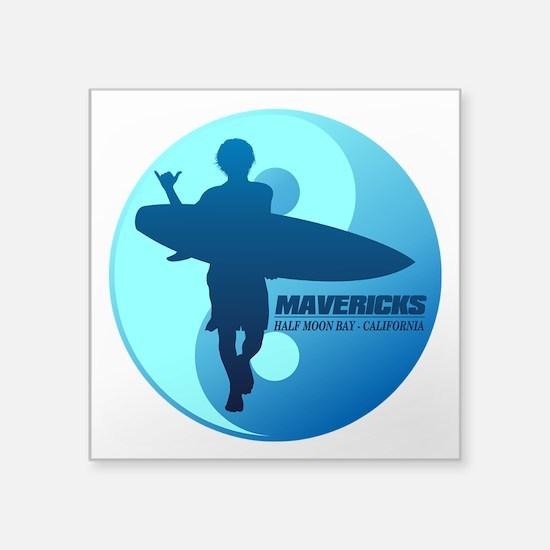 Mavericks-Half Moon Bay (blue) Sticker