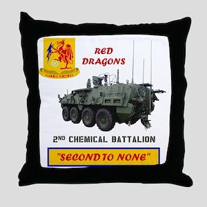 2nd Cml Bn Stryker Tee Image Back Throw Pillow