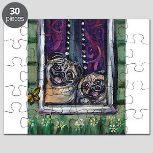 Window Happy Pugs Puzzle