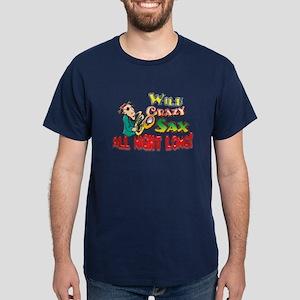 Wild Crazy Sax... Dark T-Shirt