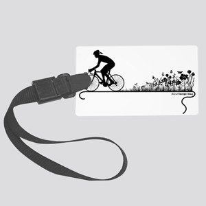 Nature Ride Cycling Large Luggage Tag