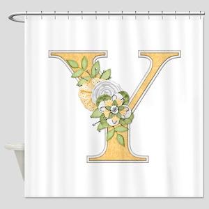 Monogram Letter Y Shower Curtain