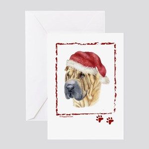 Merry Christmas Shar Pei Greeting Cards