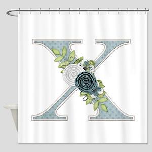 Monogram Letter X Shower Curtain