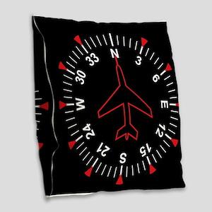 Flight Instruments Burlap Throw Pillow