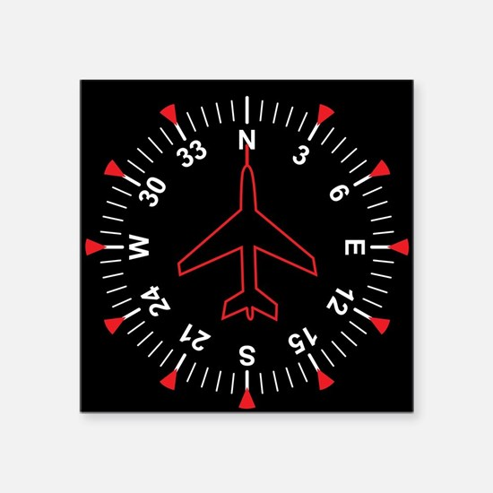 "Flight Instruments Square Sticker 3"" x 3"""