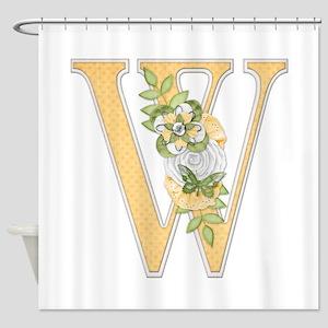 Monogram Letter W Shower Curtain