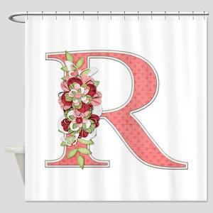 Monogram Letter R Shower Curtain