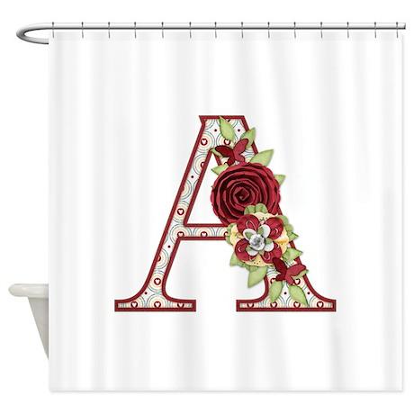 Monogram Letter A Shower Curtain