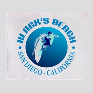 Black's Beach Throw Blanket
