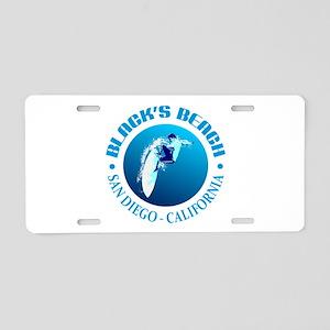 Black's Beach Aluminum License Plate