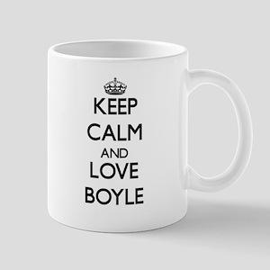 Keep calm and love Boyle Mugs