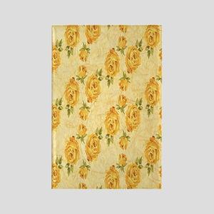 Romantic Yellow Roses Rectangle Magnet