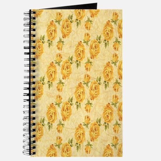 Romantic Yellow Roses Journal