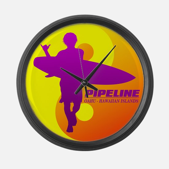 Pipeline-Oahu Large Wall Clock