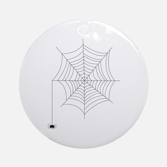 Spider Web Ornament (Round)