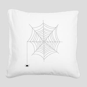 Spider Web Square Canvas Pillow