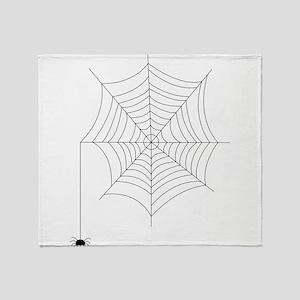 Spider Web Throw Blanket