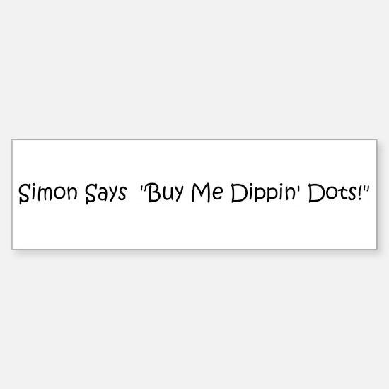 Simon Says Bumper Bumper Bumper Sticker