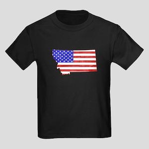 Montana Flag Kids Dark T-Shirt