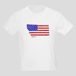 Montana Flag Kids Light T-Shirt