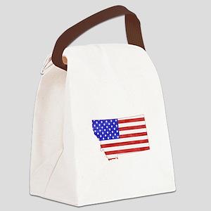 Montana Flag Canvas Lunch Bag