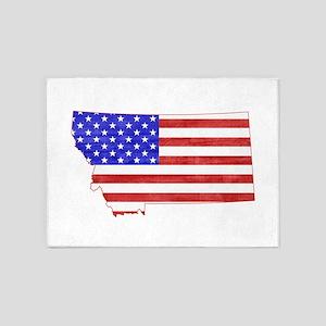 Montana Flag 5'x7'Area Rug