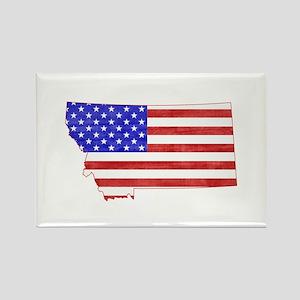 Montana Flag Rectangle Magnet