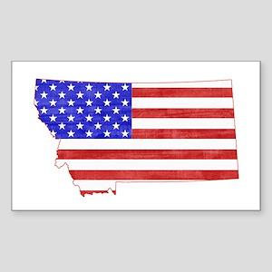Montana Flag Sticker (Rectangle)