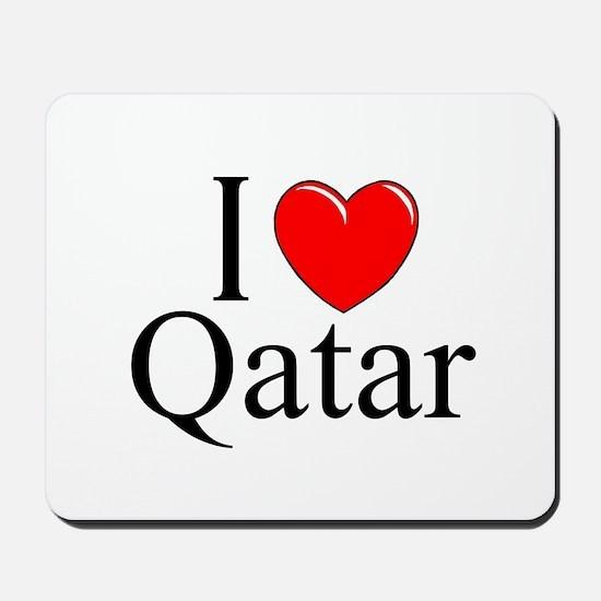 """""""I Love Qatar"""" Mousepad"""