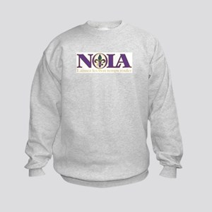 NOLA Mardi Gras Kids Sweatshirt