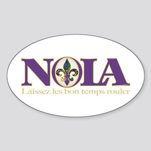 NOLA Mardi Gras Oval Sticker