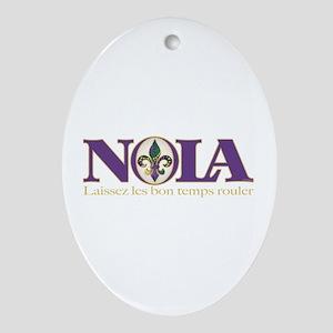 NOLA Mardi Gras Oval Ornament
