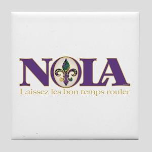 NOLA Mardi Gras Tile Coaster