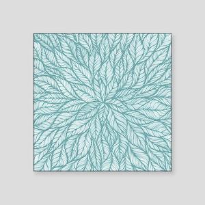 Leafy Teal Sticker