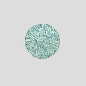 Leafy Teal Mini Button
